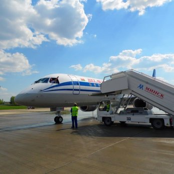 В Минск из Бразилии прилетел новый Embraer авиакомпании «Белавиа»