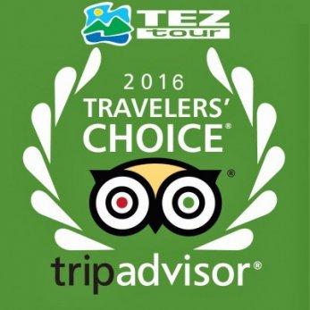 Туроператор TEZ TOUR во второй раз стал победителем премии Travelers' Choice Favorites