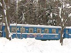 В Минске на Детской железной дороге начинает курсировать праздничный поезд «Новогодний экспресс»