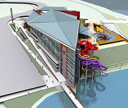 Строительство аквапарка в Минске вышло на завершающую стадию