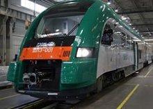 Первый трехвагонный дизель-поезд производства PESA прибыл в Беларусь