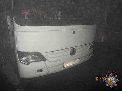 Прошлой ночью в Гродно на автостоянке загорелся туристический автобус