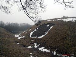 На замковой горе в Новогрудке произошел оползень