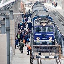 Поезда из-за границы начали прибывать на новые пути Варшавской стороны Брестского вокзала