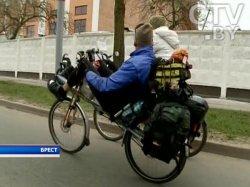 Знаменитый велотурист Ричард Эванс на один день проездом в Беларуси: Это самая лучшая встреча за все мое путешествие