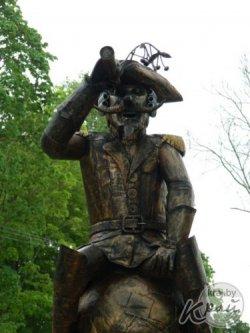В Глубоком установили скульптурную композицию «Мюнхгаузен»