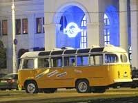 У Мінску правялі незвычайную экскурсію на рэтрааўтобусе