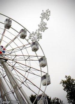 В гомельском парке открыли новое колесо обозрения