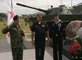На Линии Сталина установили мемориал «Морякам земли белорусской»