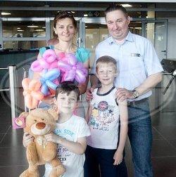 Стотысячным посетителем минского аквапарка стала семья из столицы
