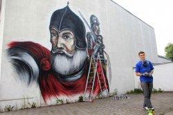 Кейстут поселился в Барановичах после масштабного проекта граффити