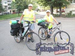 В велопробег по Беларуси отправился житель Солигорска вместе с сыном
