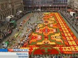Центр Брюсселя напоминает цветочную поляну