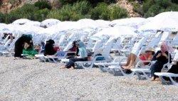Пляж для женщин открылся в Анталье