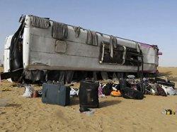 В Хургаде перевернулся пассажирский автобус, пострадали 42 человека
