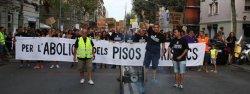 В Барселоне прошел митинг против нелегальной туристической аренды