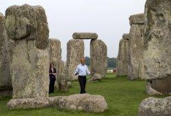 Барак Обама побывал на экскурсии в Стоунхендже