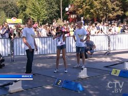 Фестиваль биатлона Дарьи Домрачевой прошел 13 сентября в парке Горького