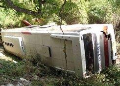 В Болгарии на горном перевале близ Велико Тырново перевернулся автобус с туристами, есть жертвы
