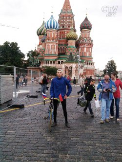 Белорус Петр Чириков рассказал, как он съездил в Москву из Минска на... велосипеде!