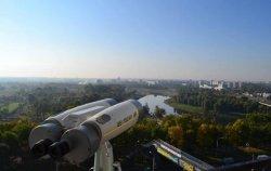 На Могилевской ратуше установили панорамный бинокль