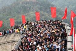 Китай: нашествие китайских туристов на достопримечательности