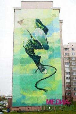 Пинчанин нарисовал самое большое граффити в Беларуси