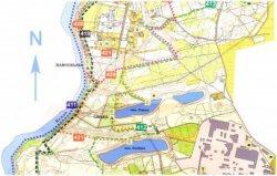 В Гродно в лесопарке Пышки появился новый веломаршрут «Меловые горы» протяженностью в 30,5 километра