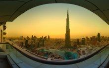 Рассвет в Дубае: вид с Бурдж Халифа