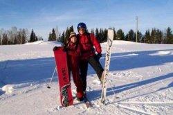 Для горнолыжной трассы в Коробчицах купили лыжи и сноуборды