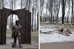 Скульптуру «Тарас на Парнасе» демонтировали и увезли из Городка. Временно или навсегда?
