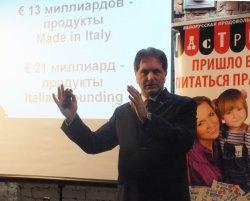 Ренато Кучинотта о том, как должен выглядеть белорусский ресторан в Риме: серп и молот, голова зубра, девочки в чулках и драники