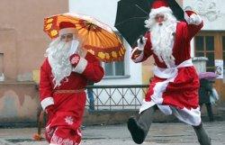 Сотни Дедов Морозов пробежали по улицам Латвии