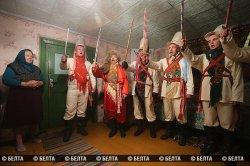 В Копыльском районе провели обряд «Колядные цари»