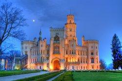 Замок Глубока открыт и зимой