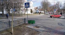 Статую-фонарь на ул. Гоголя в Бресте демонтировали