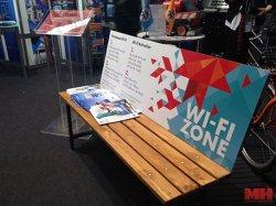 В конце мая возле Минской ратуши установят первую в городе Wi-Fi-скамейку