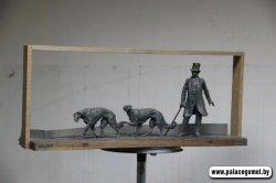 1 мая на территории дворцово-паркового ансамбля в Гомеле появится скульптура «Прогулка с борзыми»