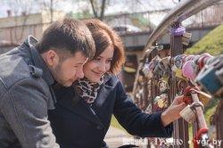 В Гродно ржавеет мост влюбленных