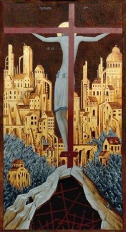 Наивное искусство и абстракционизм представлены на выставке современных икон в Витебске