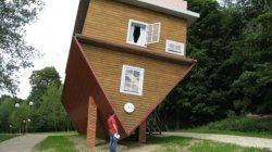 Перевернутый дом под Минском ждет гостей