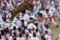 В Испании во время забега быков пострадали туристы
