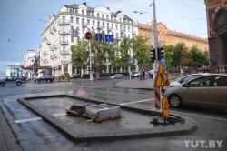На проезжей части в центре Минска появятся выделенные островки со скульптурами