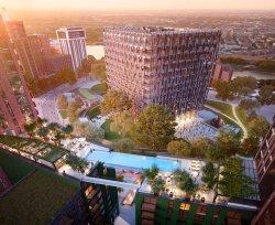 В Лондоне между крышами жилых домов будет построен бассейн с прозрачным дном