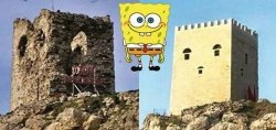 После реставрации замок в Стамбуле стал похож… на Губку Боба