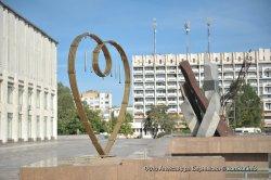 В Бобруйске установили скульптуру, создающую музыку ветра