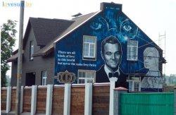 Фотофакт: в Светлогорске появился дом с изображением Леонардо Ди Каприо