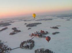 Тракай с высоты птичьего полета: настоящая зимняя сказка!