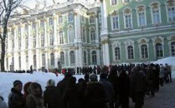 Бесплатный Эрмитаж собрал двухкилометровую очередь туристов
