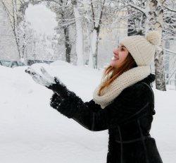 Половина населения земли никогда не видела снега, а нам повезло!